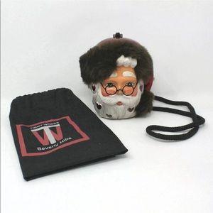 Santa Claus XX Christmas Novelty Bag fur & Heart